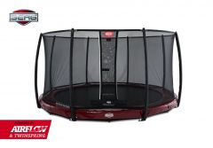 BERG InGround Elite 380 trampoline + net