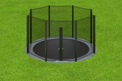 Akrobat Orbit Flat to the Ground trampoline 430 cm + net