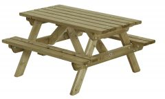 Kinder picknicktafel Talen 35 mm 120 x 115 cm