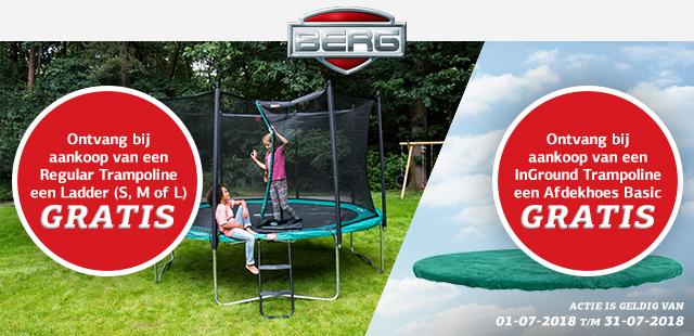 trampoline actie aanbieding BERG