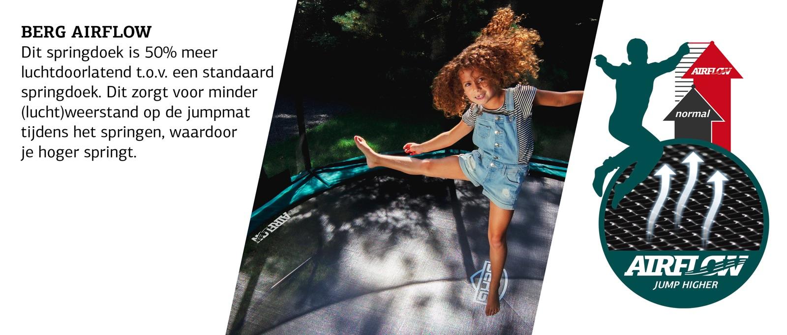 airflow doek trampoline elite 330
