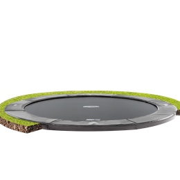 flatground trampoline zonder veiligheidsnet