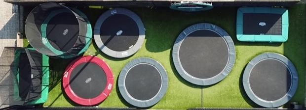 trampoline kopen uitproberen winkel