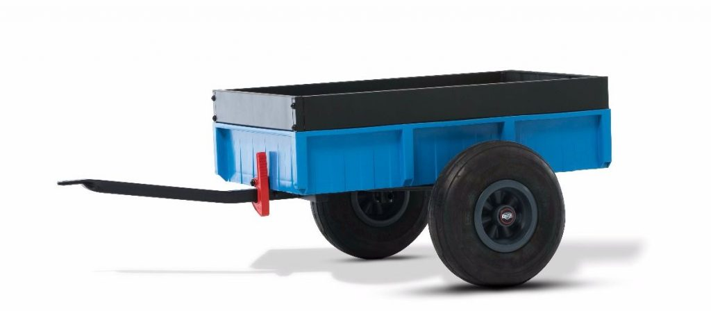 skelter aanhanger Bergtoys steel trailer